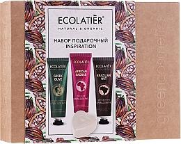 Düfte, Parfümerie und Kosmetik Körperpflegeset - Ecolatier Inspiration Set (Handcreme 30ml + Handcreme 30ml + Handcreme 30ml + Glycerinseife 80g)