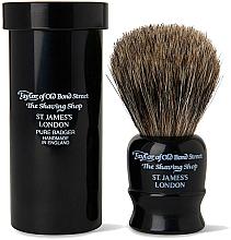 Düfte, Parfümerie und Kosmetik Rasierpinsel 8,25 cm mit Pinseletui schwarz - Taylor of Old Bond Street Shaving Brush Pure Badger
