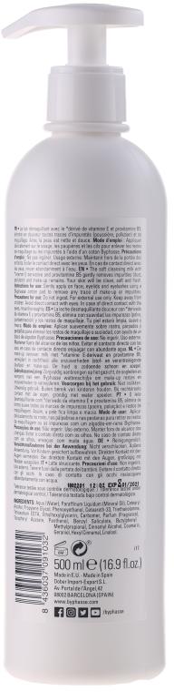 Sanfte Reinigungsmilch für Gesicht und Augen, für alle Hauttypen (Spender) - Byphasse Soft Cleansing Milk Face & Eyes All Skin Types  — Bild N2