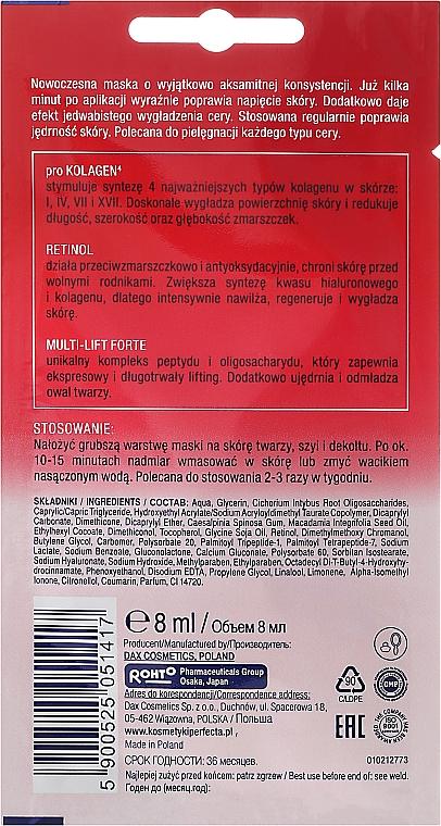 Gesichts-, Hals- und Dekolletémaske mit Liftingeffekt - Perfecta Multi-Kolagen Retinol — Bild N2