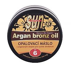 Düfte, Parfümerie und Kosmetik Bräunungsbutter für Gesicht und Körper mit Bio-Arganöl und Beta-Carotin SPF 6 - Vivaco Sun Argan Bronz Oil SPF 6