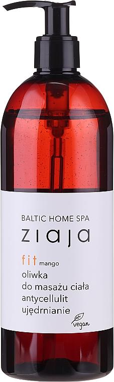 Straffendes Anti-Cellulite Massageöl für den Körper mit Mangoduft - Ziaja Baltic Home Spa FIT Mango Body Massage Oil — Bild N1