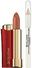 "Düfte, Parfümerie und Kosmetik Make-up Set (Lippenstift 4ml + Lippenkonturenstift 1.1g) - Collistar Rossetto Vibrazioni Di Colore ""Cherrywood"""