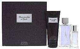 Düfte, Parfümerie und Kosmetik Abercrombie & Fitch First Instinct - Duftset (Eau de Toilette/100ml + Eau de Toilette/15ml + Duschgel/200ml)