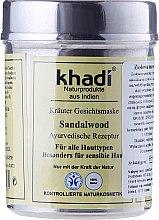 Düfte, Parfümerie und Kosmetik Gesichtsmaske für alle Hauttypen mit Sandelholz - Khadi
