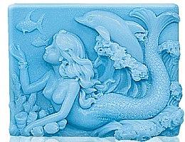 "Düfte, Parfümerie und Kosmetik Glycerinseife ""Meeressirene"" - Bulgarian Rose Glycerin Fragrant Soap Blue Mermaid"