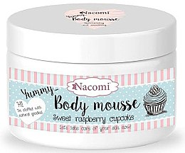 Düfte, Parfümerie und Kosmetik Körpermousse Himbeer-Cupcake mit Sheabutter, Avocado und Sonnenblumenöl - Nacomi Body Mousse