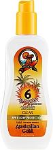 Düfte, Parfümerie und Kosmetik Feuchtigkeitsspendendes Sonnenschutzspray-Gel SPF 6 - Australian Gold Body Spray Gel SPF6
