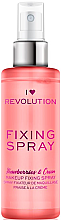 Düfte, Parfümerie und Kosmetik Make-up-Fixierer - I Heart Revolution Fixing Spray Strawberries & Cream