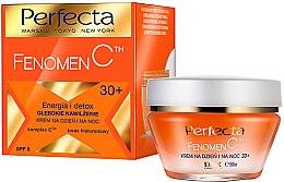 Düfte, Parfümerie und Kosmetik Tief feuchtigkeitsspendende und energetisierende Detox-Gesichtscreme für tag und Nacht mit Hyaluronsäure 30+ SPF 6 - Perfecta Fenomen C 30+ Cream