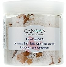 Düfte, Parfümerie und Kosmetik Aromatisches Badesalz mit Rosenblättern - Canaan Minerals & Herbs Aromatic Bath Salts With Rose Leaves