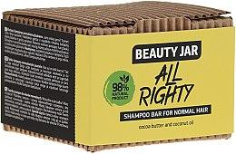 Düfte, Parfümerie und Kosmetik Festes Shampoo für normales Haar mit Kakaobutter und Kokosöl - Beauty Jar Hair Care All Righty Shampoo