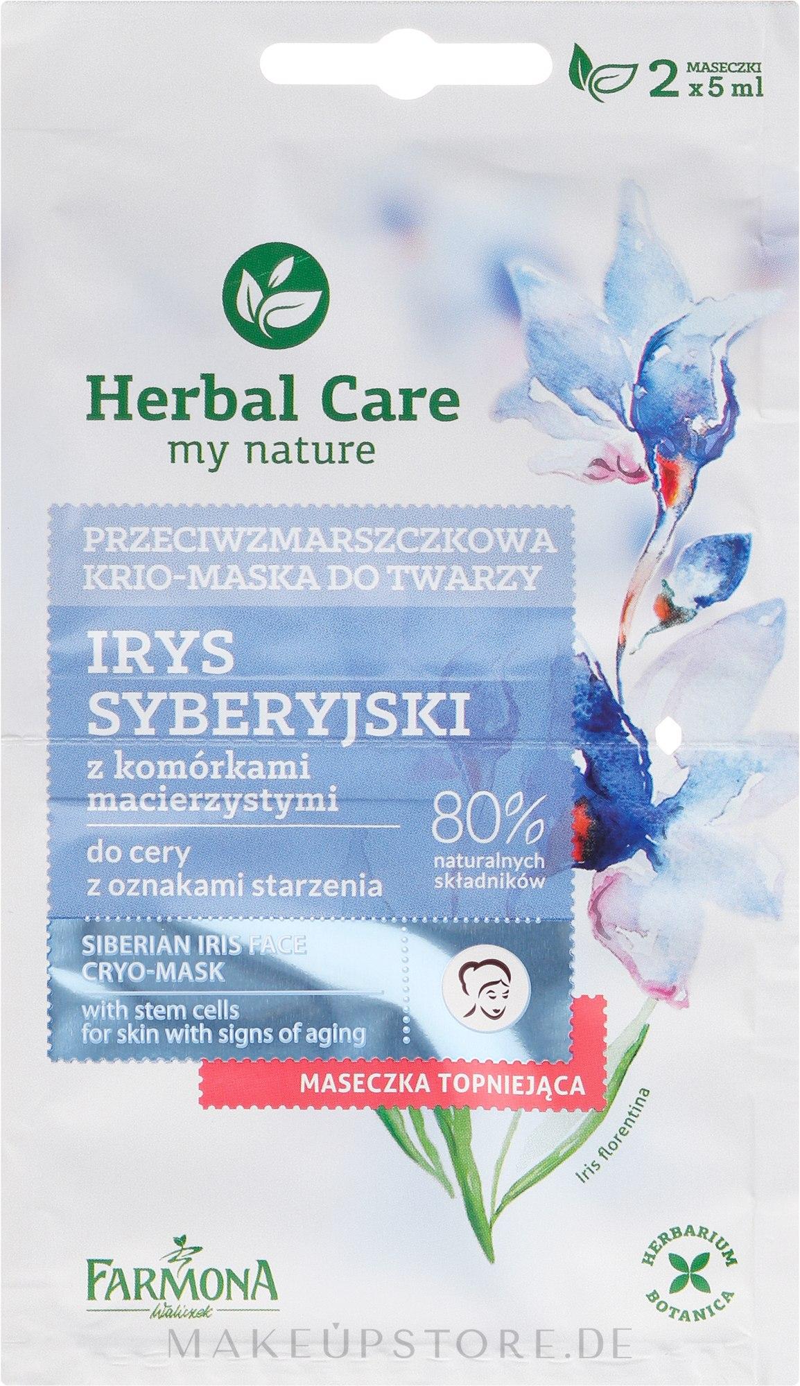 Cryo-Gesichtsmaske mit sibirischer Iris - Farmona Herbal Care Siberian Iris Face Cryo-Mask — Bild 2x5 ml