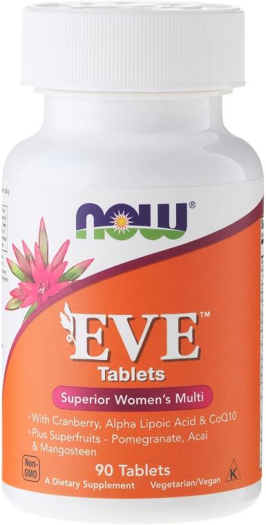 Nahrungsergänzungsmittel Eve für Frauen mit Preiselbeere, Alpha-Liponsäure und Coenzym Q10 - Now Foods Eve Womans Multi — Bild N1