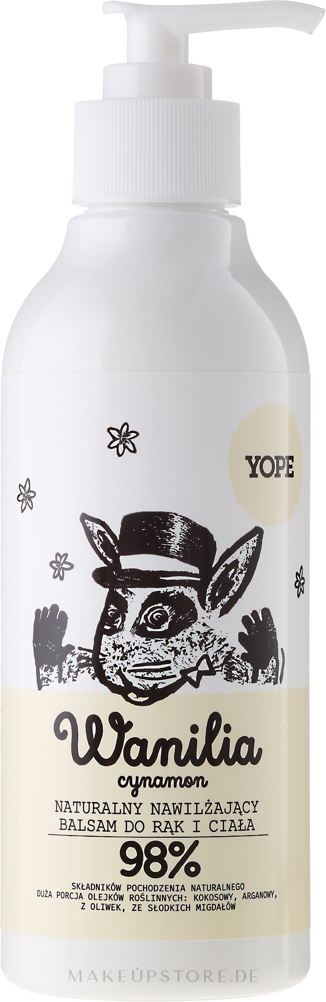 Nährende Hand- und Körperlotion für trockene Haut - Yope Vanilla & Cinnamon Hand And Body Lotion — Bild 300 ml