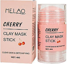 Düfte, Parfümerie und Kosmetik Reinigende und entgiftende Gesichtsmaske in Stick mit Kirsche - Melao Cherry Clay Mask Stick