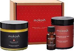 Düfte, Parfümerie und Kosmetik Körperpflegeset Würzige Orange - Mokosh Cosmetics Orange & Cinnamon (Balsam 180ml + Peeling 300g + Nagelöl 12ml)