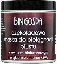 Düfte, Parfümerie und Kosmetik Schokoladenmaske zur Büstenpflege mit Hyaluronsäure - BingoSpa Chocolate Breast Mask