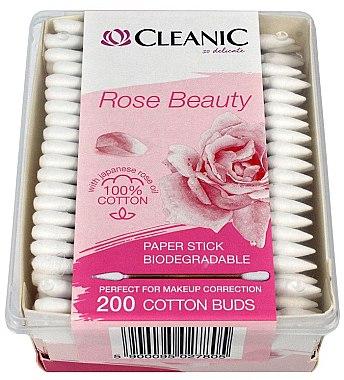 Wattestäbchen mit japanischem Rosenöl 200 St. - Cleanic Rose Beauty Cotton Buds — Bild N1