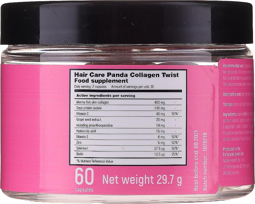 Nahrungsergänzungsmittel Meereskollagen für gesundes Haar - Noble Health Hair Care Panda Collagen Twist — Bild N3