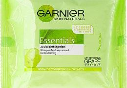 Düfte, Parfümerie und Kosmetik Sanfte Gesichtsreinigungstücher mit Traubenextrakt - Garnier Skin Naturals Essentials
