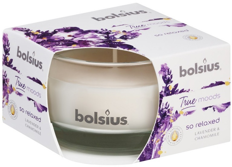 Duftglas Lavendel & Kamille - Bolsius True Moods Collection So Relaxed Candle 50 mm x Ø80 mm