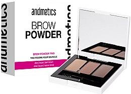 Düfte, Parfümerie und Kosmetik Augenbrauenpuder-Palette - Andmetics Brow Powder Trio