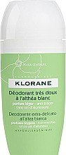 Düfte, Parfümerie und Kosmetik Deo Roll-on - Klorane Deodorant Roll On with White Althea