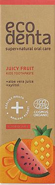 Kinderzahnpasta mit Fruchtgeschmack - Ecodenta Cosmos Organic Juicy Fruit — Bild N1