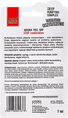 Schwarze Peel-Off-Maske für das Gesicht - Czyste Piekno Black Peel Off Mask — Bild N2