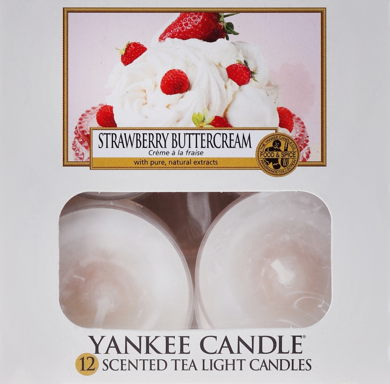 Teelichter Strawberry Buttercream - Yankee Candle Scented Tea Light Candles Strawberry Buttercream — Bild N1