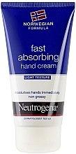 Düfte, Parfümerie und Kosmetik Schnell einziehende Handcreme - Neutrogena Norwegian Formula Fast Absorbing Light Texture Hand Cream