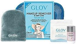 Düfte, Parfümerie und Kosmetik Reiseset zum Abschminken - Glov Expert Travel Set Dry Skin (Handschuh Mini 1St. + Handschuh 1St. + Gesichtsreinigungs-Stick 40g)