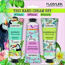 Düfte, Parfümerie und Kosmetik Handpflegeset - Floslek Trio Hand Cream Set (Handcreme 3x50ml)