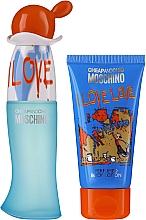 Düfte, Parfümerie und Kosmetik Moschino I Love Love - Duftset (Eau de Toilette 30ml + Körperlotion 50ml)