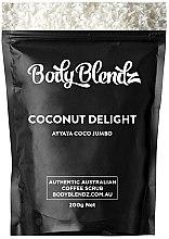 Düfte, Parfümerie und Kosmetik Kaffee-Peeling für Gesicht und Körper mit Kokosöl  - Body Blendz Coconut Delight Scrub