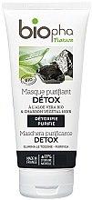 Düfte, Parfümerie und Kosmetik Entgiftende Gesichtsmaske mit Aloe Vera und Aktivkohle - Biopha Nature Mask Detox