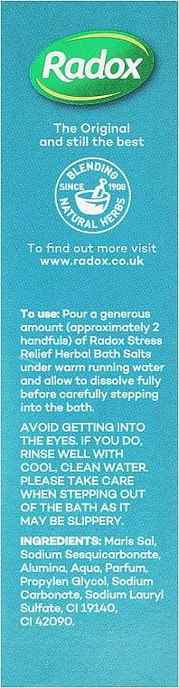 Beruhigendes Badesalz mit Eukalyptusöl - Radox Stress Relief Bath Salts — Bild N2