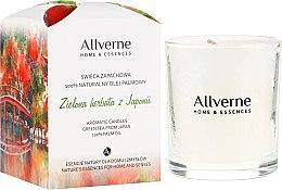 Düfte, Parfümerie und Kosmetik Duftkerze im Glas Green Tea from Japan - Allvernum Home & Essences Candle