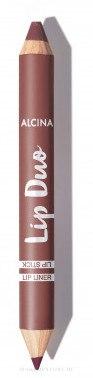2in1 Lippenstift mit Sheabutter und Kokosnussöl - Alcina Lip Duo Lipstick — Bild Berry nude