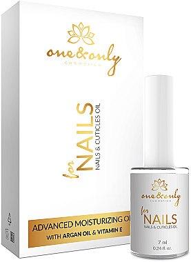 Nagel- und Nagelhautöl mit Vitamin E und Arganöl - One&Only Cosmetics Adcvanced Moisturizing Oil — Bild N1