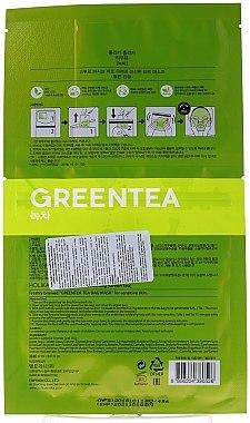 Tuchmaske mit Grüntee-Extrakt - Holika Holika Brewing Tea Bag Mask Green Tea — Bild N2