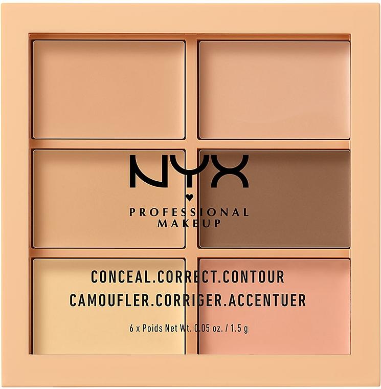 Highlighter Gesichtspalette - Nyx Palette Conceal Correct Contour — Bild N1