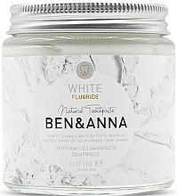 Düfte, Parfümerie und Kosmetik Natürliche Zahnpasta White mit Fluorid - Ben & Anna White Fluoride Toothpaste