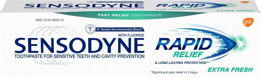 Beruhigende Zahnpasta für empfindliche Zähne Rapid Relief Extra Fresh - Sensodyne Rapid Extra Fresh — Bild N2