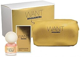 Düfte, Parfümerie und Kosmetik DSQUARED2 Want - Duftset (Eau de Parfum 50ml + Kosmetiktasche)