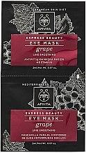 Düfte, Parfümerie und Kosmetik Anti-Falten Maske für die Augenpartie mit Traubenextrakt - Apivita Express Beauty Eye Mask Grape