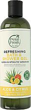 Düfte, Parfümerie und Kosmetik Erfrischendes Bade- und Duschgel Aloe & Citrus - Petal Fresh Pure Refreshing Bath & Shower Gel Aloe & Citrus