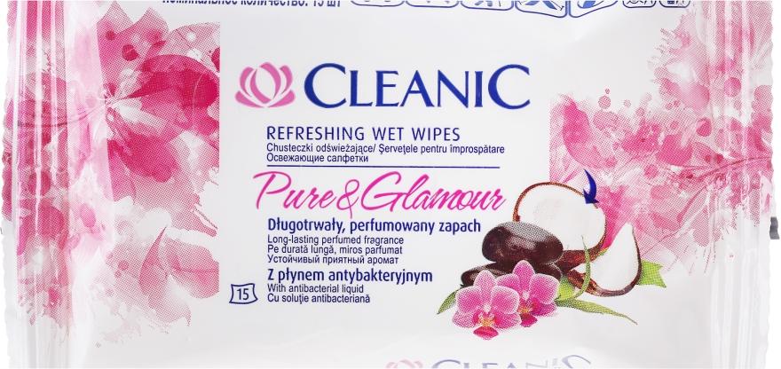 Antibakterielle Feuchttücher 15 St. - Cleanic Pure & Glamour Wipes — Bild N1