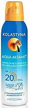 Düfte, Parfümerie und Kosmetik Feuchtigkeitsspendendes Bräunungsspray SPF 20 - Kolastyna Aqua Aksamit SPF 20